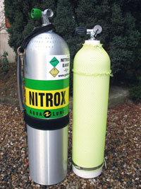 Bailout S80 nitrox + 7 litres alu